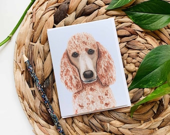 Poodle Greeting Card, Poodle Thank You Card, Dog Greeting Card, Poodle Birthday Card, Blank Dog Card, Dog Birthday Card, Dog Card