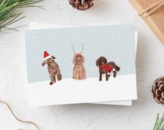 Goldendoodle Holiday Card, Goldendoodle Christmas Card, Golden Doodle Holiday Card, Dog Christmas Card, Dog Holiday Card