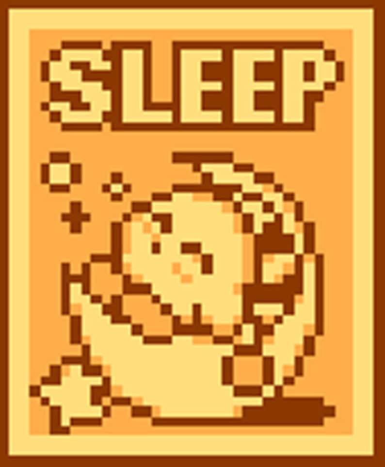 Kirby Sleep Cross Stitch Pattern image 0