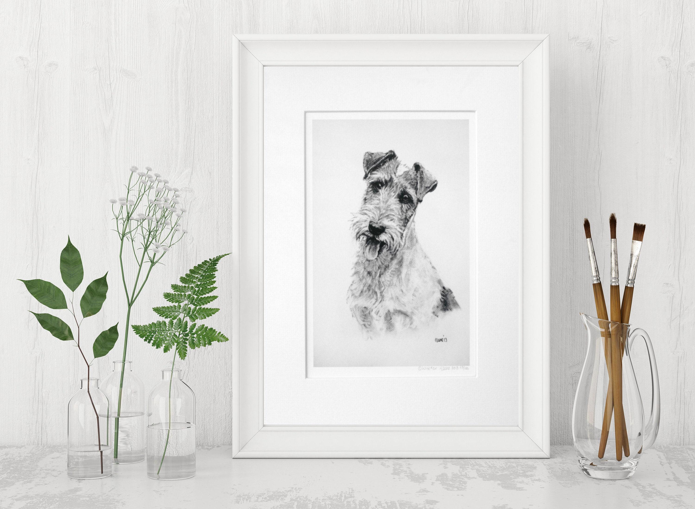 Wire Fox Terrier Hund drucken Kunstdruck