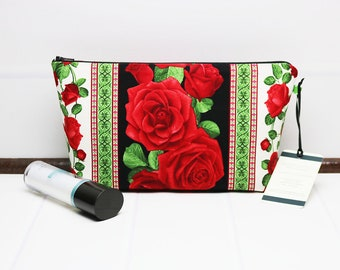701eec8dd1 Medium Makeup Bag - Floral Makeup Pouch - Toiletry Bag for Women - Cosmetic  Pouch - Travel Wash Bag - Medium Zipper Pouch Bag - Cosmetic Bag.  TalfourdJones