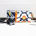 Padded Eyeglass Case - Zipper Glasses Case - Sunglasses Pouch - Reading Glasses Case - Fabric Eyeglass Case