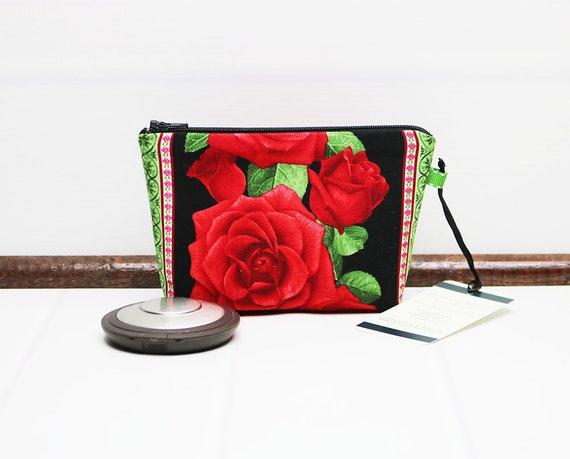 3330cddac0 Mini Makeup Bag Floral Makeup Pouch Mini Cosmetic Pouch