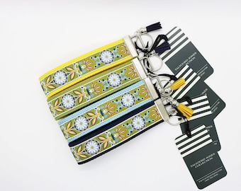 Floral Keychain - Wrist Lanyard - Key Ring Bracelet - Wristlet Keychain - Lanyard for Keys - Keychain Holder - Bracelet Keychain