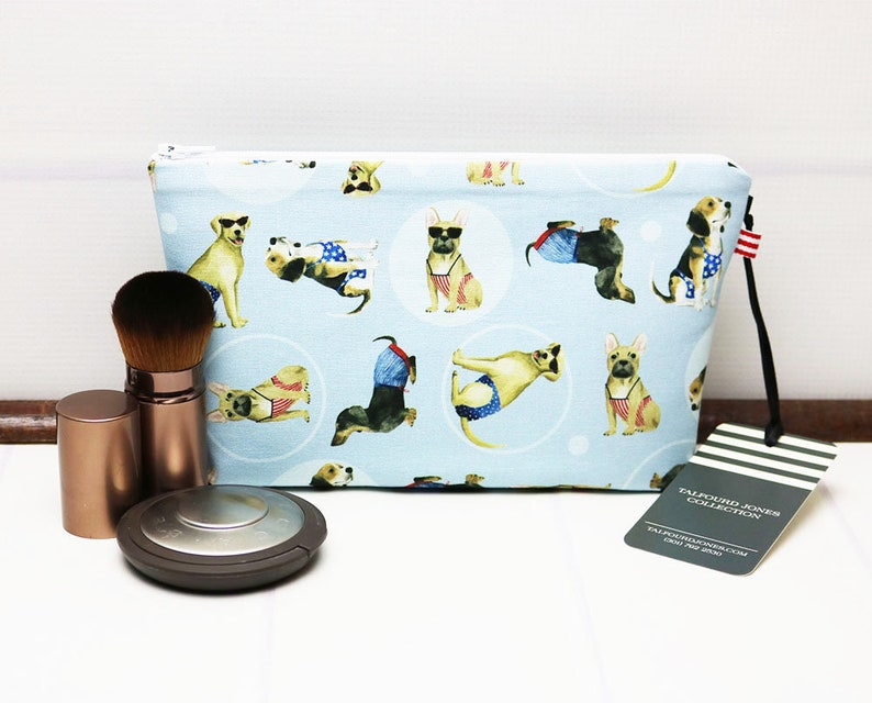 Small Cosmetic Pouch with Dogs French Bulldog Dachshund image 0