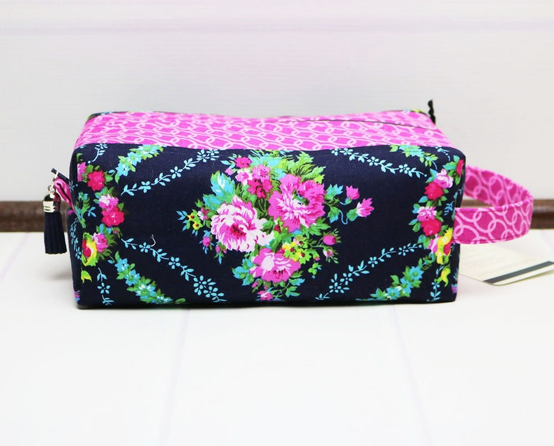 40382ffee9 Travel Toilet Bag Floral Box Pouch Womens Toiletry Bag