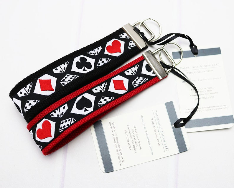 Poker Keychain  Bracelet Keychain  Key Ring Bracelet  Wrist image 0