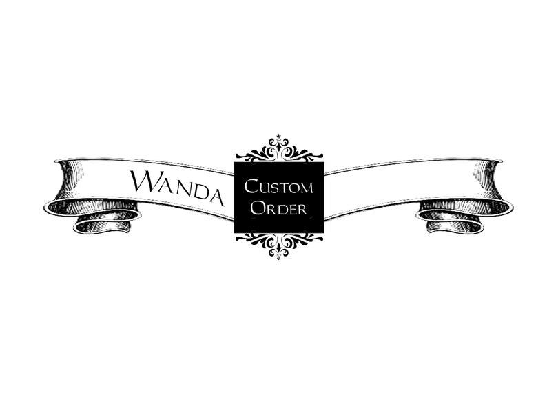 CUSTOM ORDER  Wanda  Flap Wristlet image 0