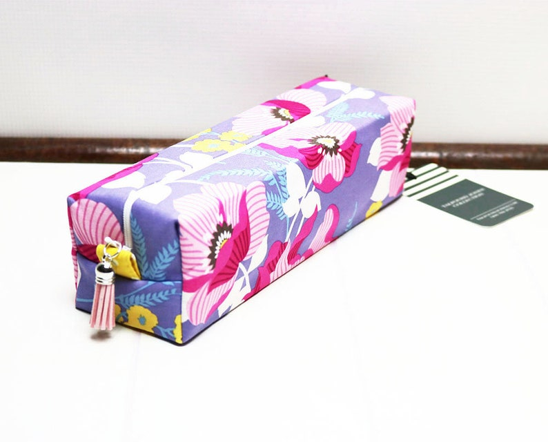 Makeup Brush Bag made using a Purple Floral Fabric perfect image 0
