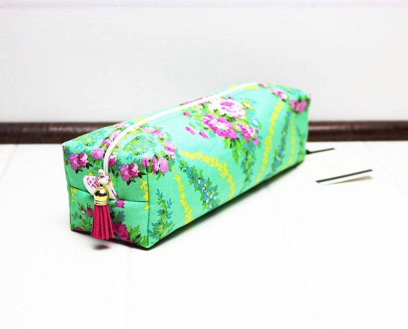 Zipper Pouch Bag  Box Cosmetic Bag  Long Makeup Bag  Makeup image 0