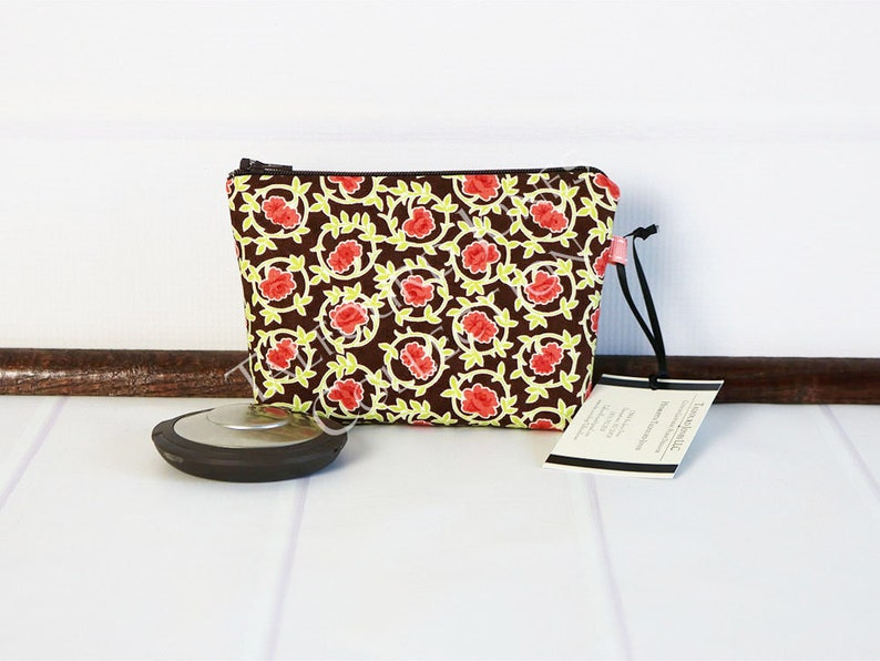 Mini Makeup Bag  Mini Cosmetic Bag  Fabric Cosmetic Pouch  image 0