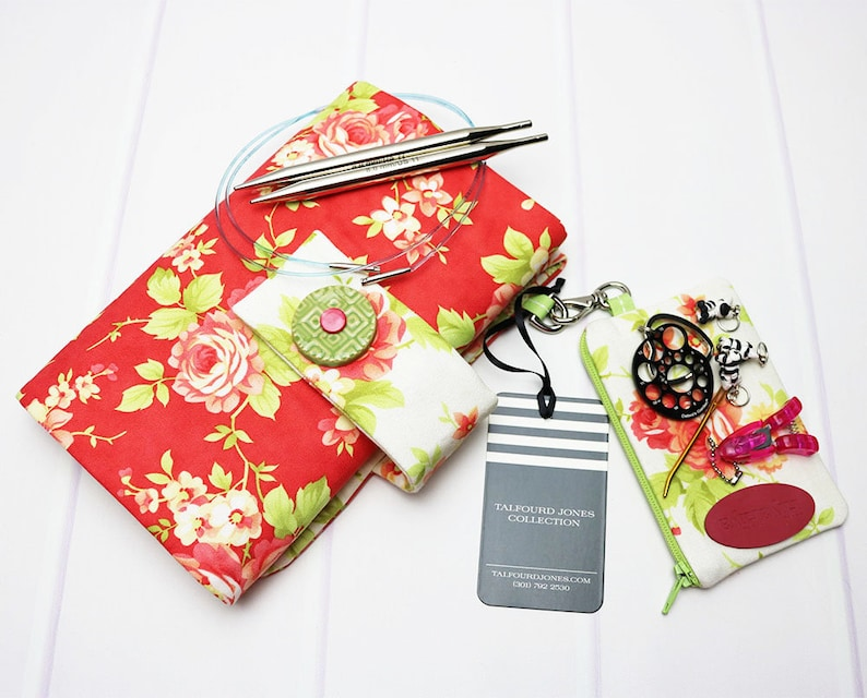 Floral Knitting Case with Numbered Pockets Knitting Bag image 0