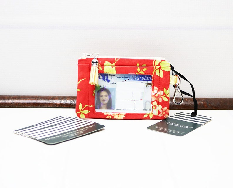 Floral ID Holder with Trigger Snap Minimalist Wallet image 0