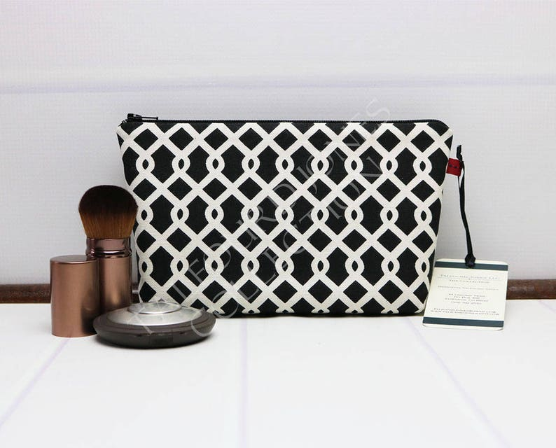 Small Makeup Pouch  Cosmetic Pouch  Small Zipper Pouch  image 0