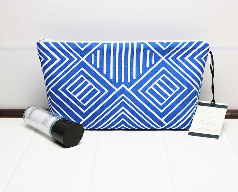 3b75b5bc36 Geometric Makeup Bag Medium Cosmetic Bag Travel Toiletry
