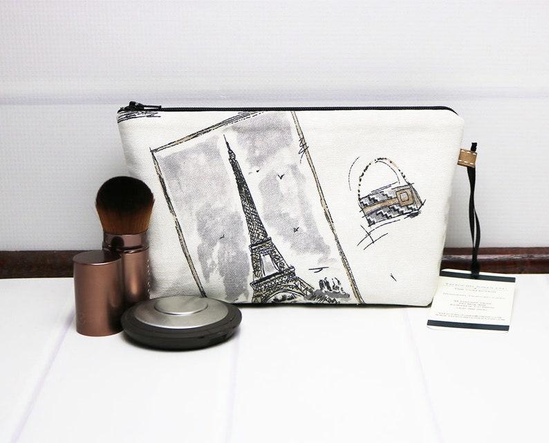 Waterproof Cosmetic Bag  Travel Wash Bag  Zipper Makeup image 0