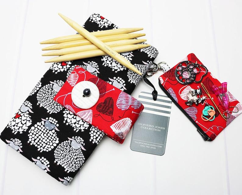 Knitting Needle Holder  DPN Knitting Needle Case  DPN image 0