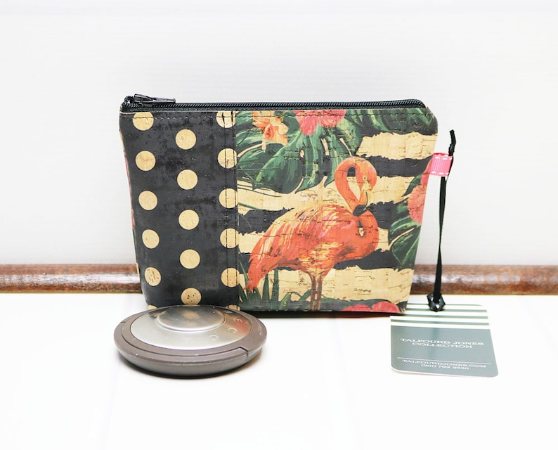 Mini Makeup Bag Cork Fabric Vegan Eco-Friendly Makeup image 0