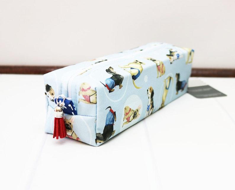 Makeup Brush Bag Dog Box Zipper Bag French Bulldog image 0