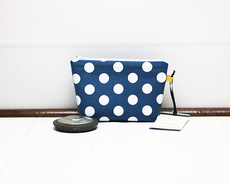 Mini Makeup Bag  Polka Dot Makeup Bag  Makeup Bag for Women image 0