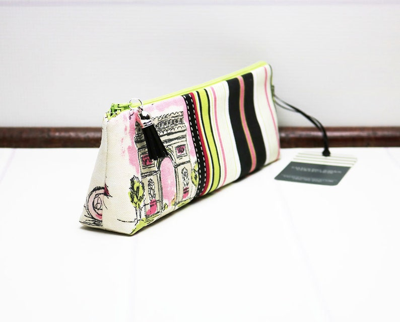 Pencil Holder Fabric Pencil Case Long Notions Pouch image 0