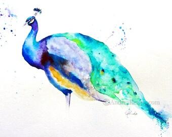 Peacock paintings | Etsy