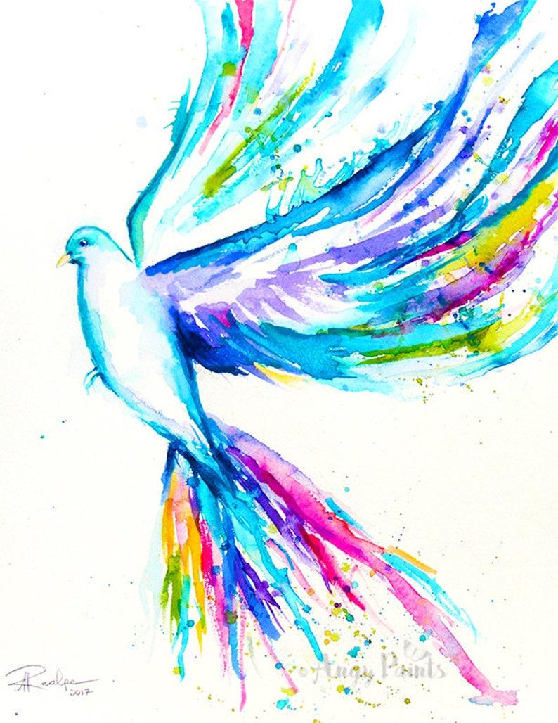 Bird Watercolor Painting Bird Art Print Bird Artwork Bird image 0