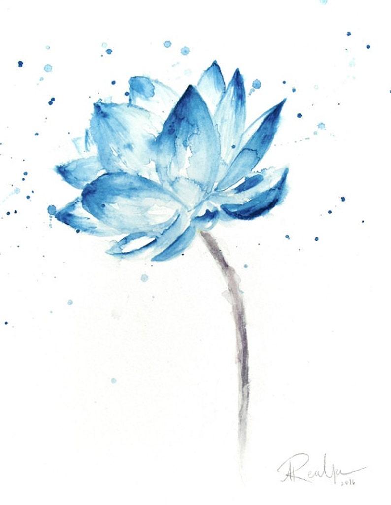 Lotus Print Lotus Painting Lotus Flower Wall Art Lotus Etsy