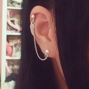 silver helix earring,dainty cartilage stud,black cartilage earring,fun,unique earrings 16g Treble Clef cartilage Earrings music notes stud