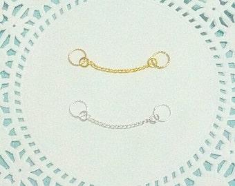 Tiny Hoop Double Piercing Chain Earring Helix Industrial Double Lobe Jewelry