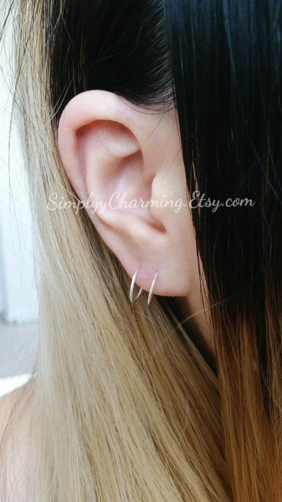 Double Hoop Fake 2nd Piercing Lobe Earring Body Jewelry Etsy
