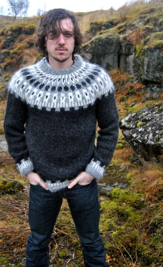 Sif Icelandic Sweater Handmade with 100% Pure Icelandic Wool