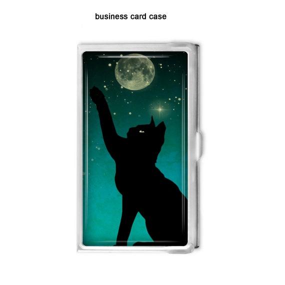 Chat Noir Et De La Lune Porte Cartes Daffaires Carte