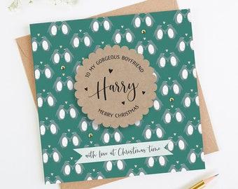 0d0ad1b0576 Boyfriend Christmas Card Personalised