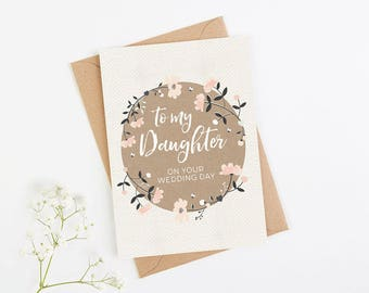 Our daughter wedding day card
