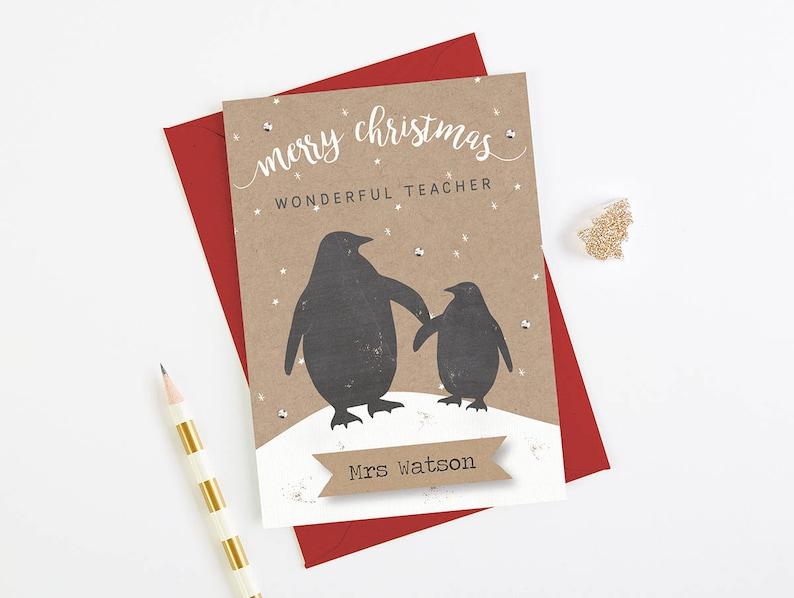 Weihnachtskarten Personalisiert.Lehrer Weihnachtskarte Personalisiert