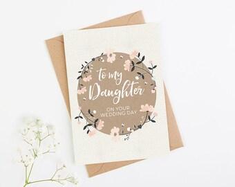 Daughter Wedding Day Card