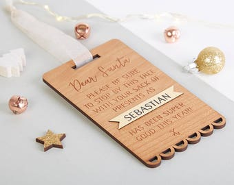 Personalised Christmas Santa Tag