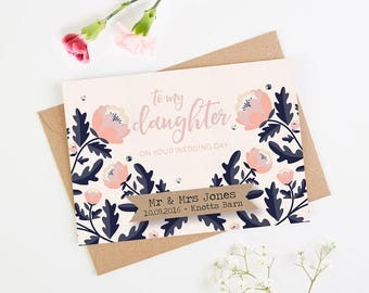 Personalised Daughter Wedding Day Card