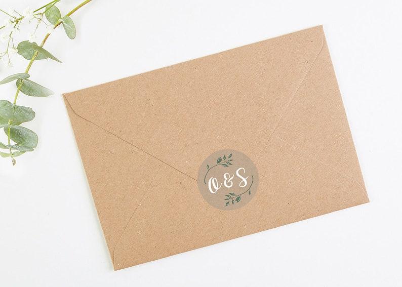Save the Date Cards Botanical Rustic Kraft Folded Save the Date with Gems Save the Date