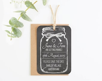chalkboard save-the-date-magnet