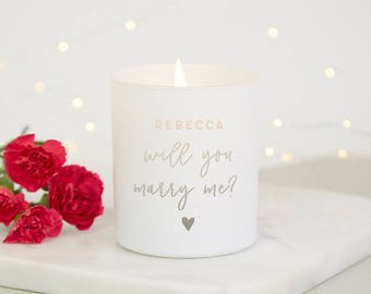 Will You Marry Me Personalised Candle