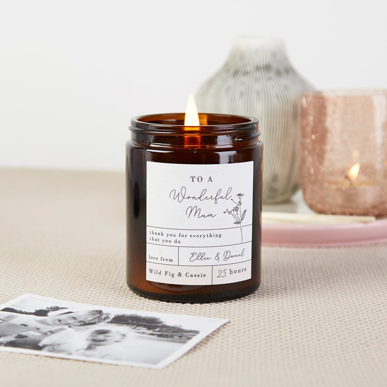 Mother's Day Gifts, Mother's Day Gift, Mother's Day Personalised Apothecary Candle