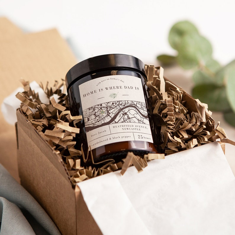 Gift For Dad Map Father\u2019s Day Apothecary Candle