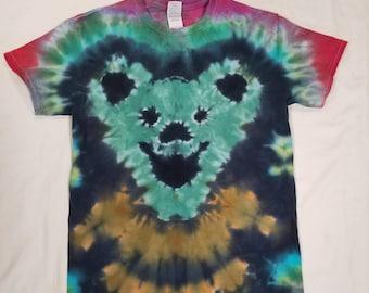 Funky Tie Dye Men's Grateful Deadbear T-Shirt size Small W515
