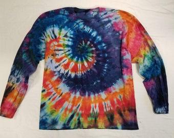 Funky Tie Dye Men's Longsleeve  Shirt size 2XL S489