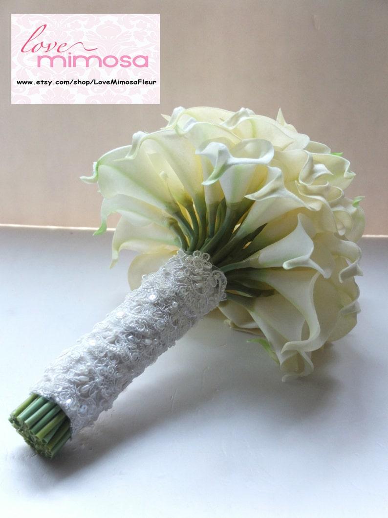 Ivory Calla Lily bouquet Bridal Bouquet wedding bouquet image 0