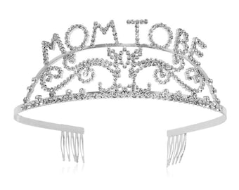 Mom-to-be Tiara,  Pink mummy-to-be sash, Sparkle Crown, Baby Shower party decoration, New Born Gifts, Party Accessories, Gift for her
