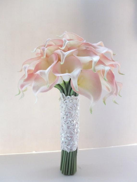 Blush Pink Calla Lily Bouquet Bridal Bouquet Wedding Bouquet Etsy