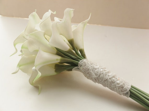36f8b048047bad Bridesmaid Bouquets Ivory Calla Lily bridesmaid bouquet | Etsy